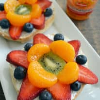 Fruity Bagel Pizzas