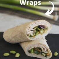 asian chicken wraps pin
