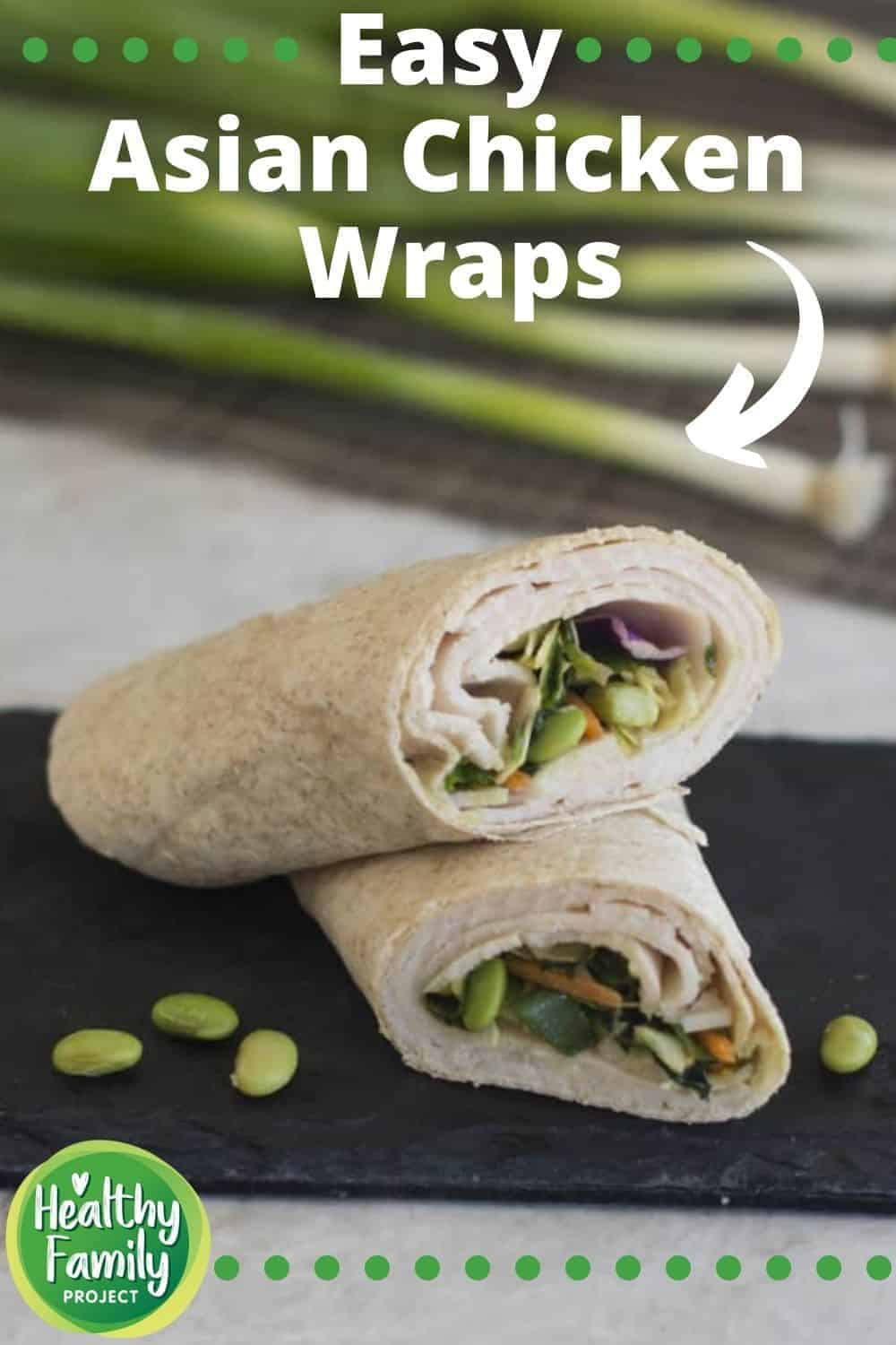 easy Asian chicken wraps