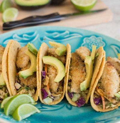 Southwest Crispy Fish Tacos