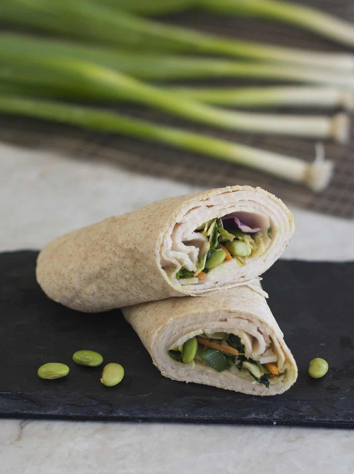 how to make asian chicken wraps