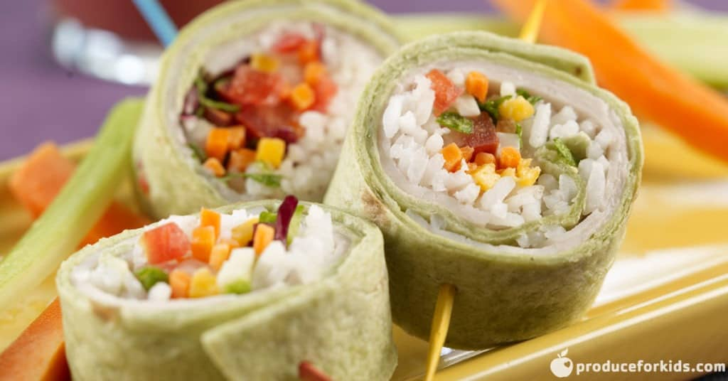 Turkey Veggie Sushi