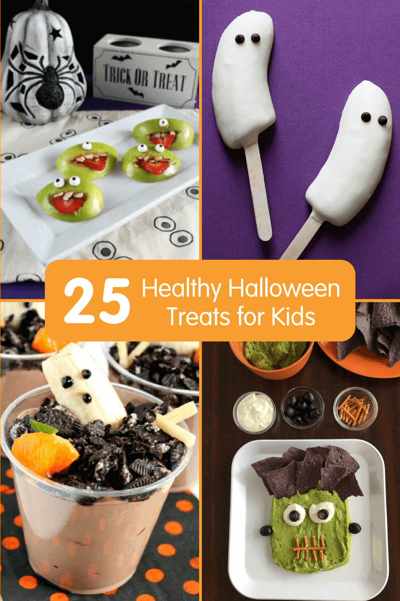 25 healthy halloween treats for kids, fun halloween recipes