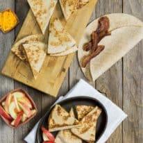 Bacon, Apple & Cheddar Quesadillas