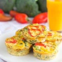 Broccoli Cheese Crustless Quiches