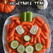 Easy Jack o' Lantern Vegetable Tray