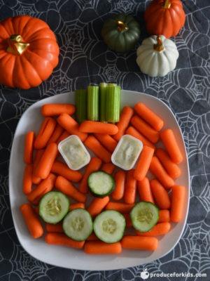 jack o lantern veggie platter