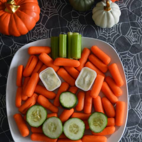 Jack o' Lantern Veggie Platter