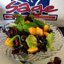Minted Spring Mix, Dark Sweet Cherries & Cantaloupe Salad
