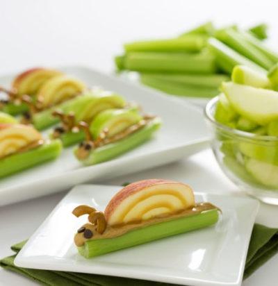 Peanut Butter Celery Snails