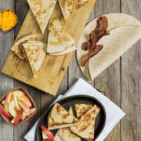 Bacon, Apple & Cheddar Quesadillas