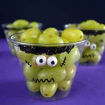 How To Make Frankenstein Grape Cups