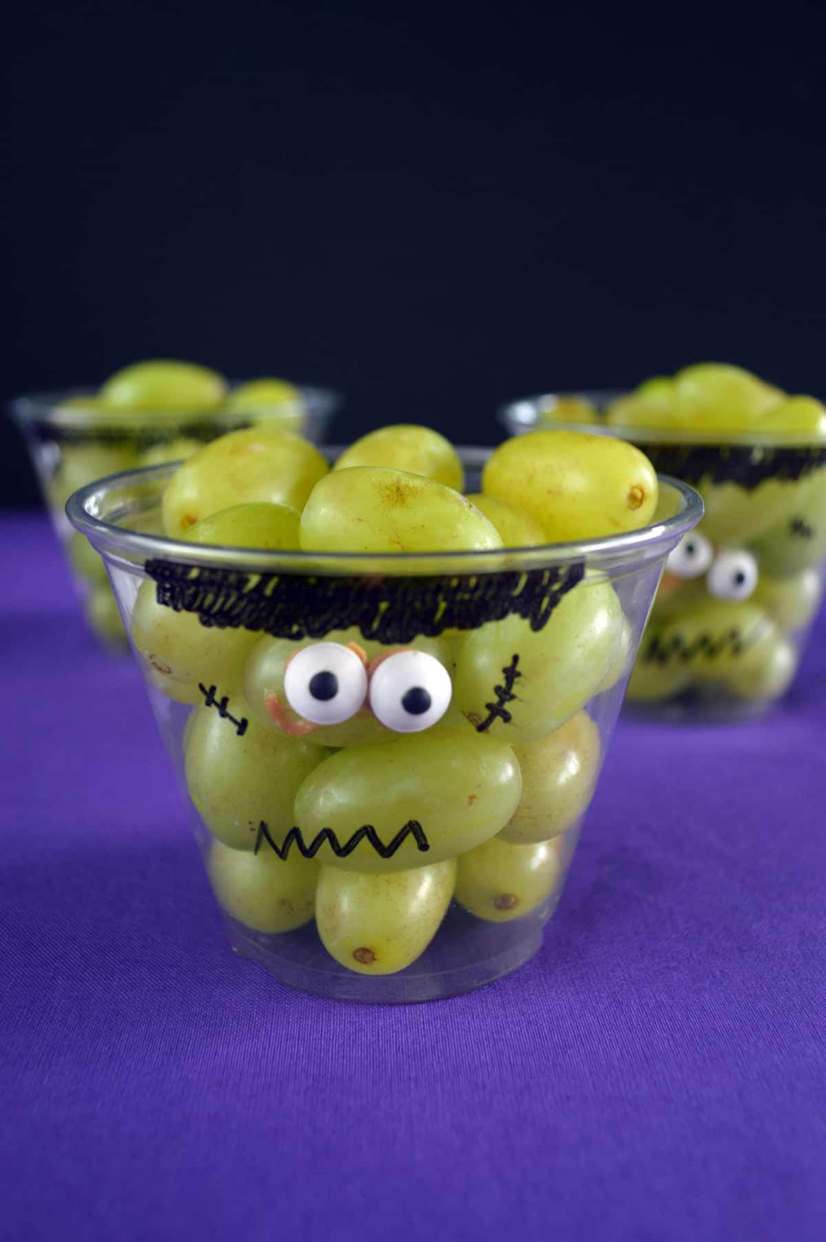 Frankenstein Grape Cups