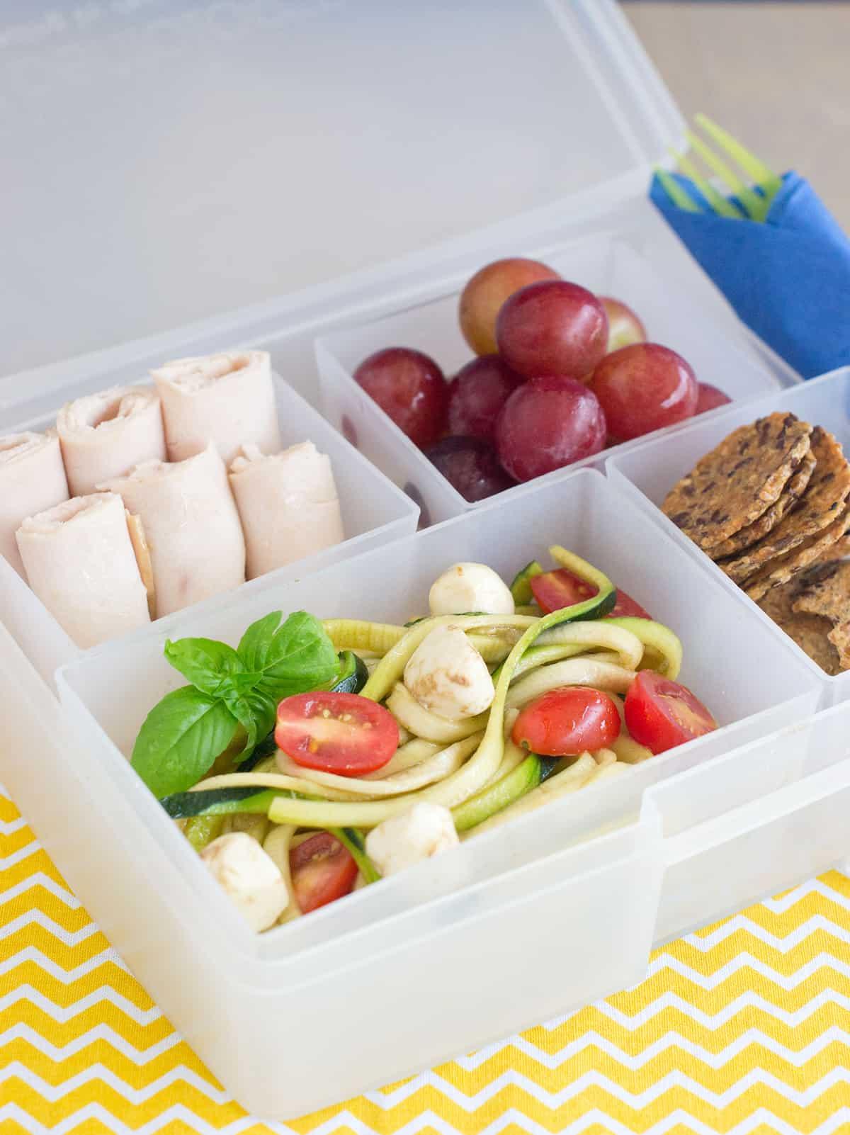Caprese Zoodle Salad Vertical Image