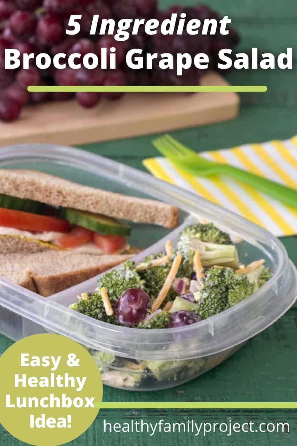 how to make a broccoli salad with grapes