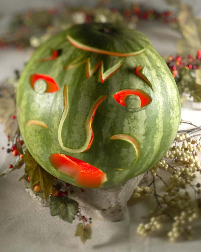 Halloween Watermelon Carvings