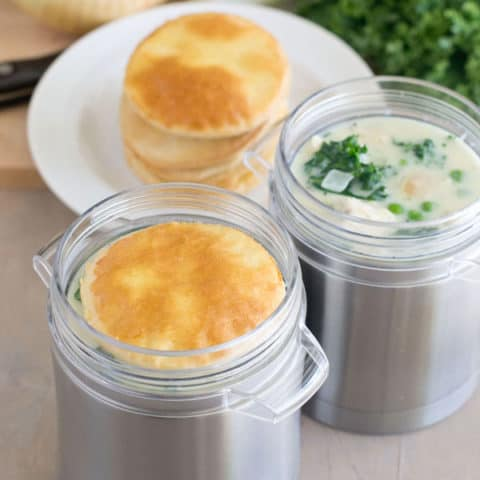 Kale and Chicken Pot Pie