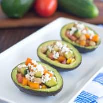 Mediterranean Vegetarian Stuffed Avocados