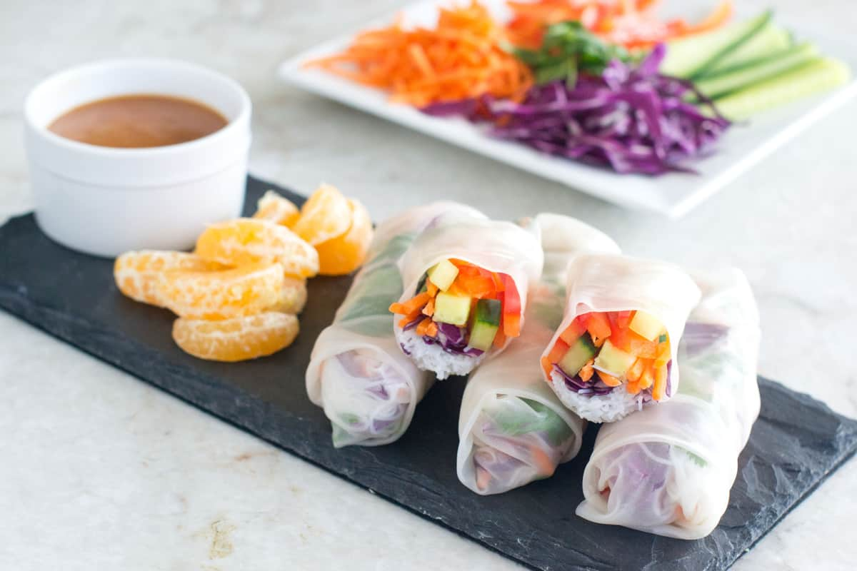 No-Cook Summer Rolls Feature Image