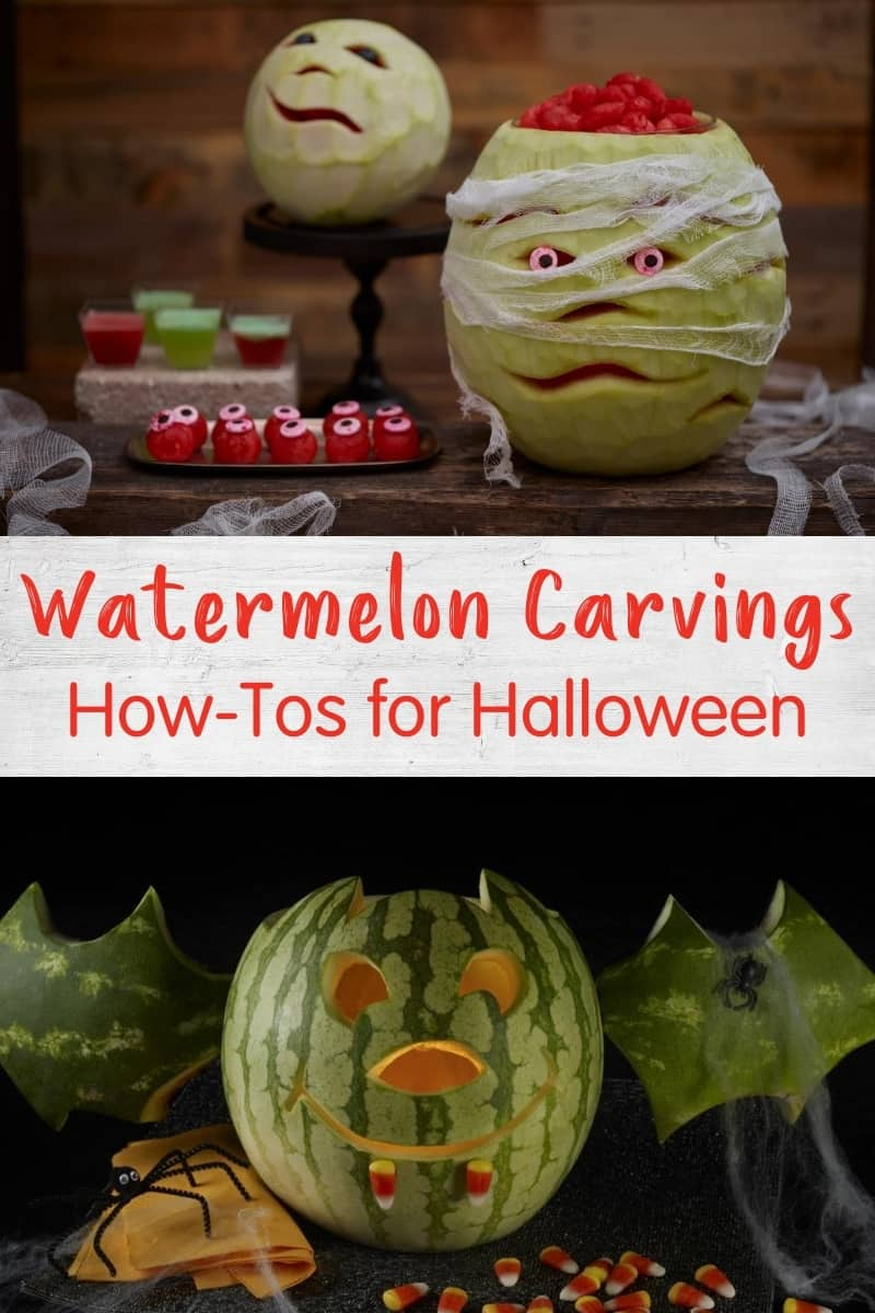 How to carve a watermelon for Halloween