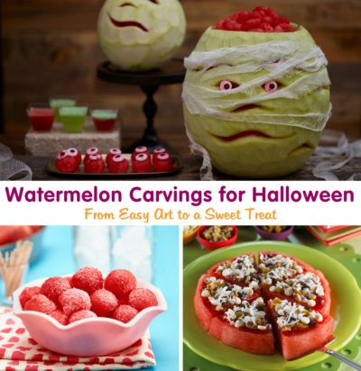 Watermelon Carvings for Halloween