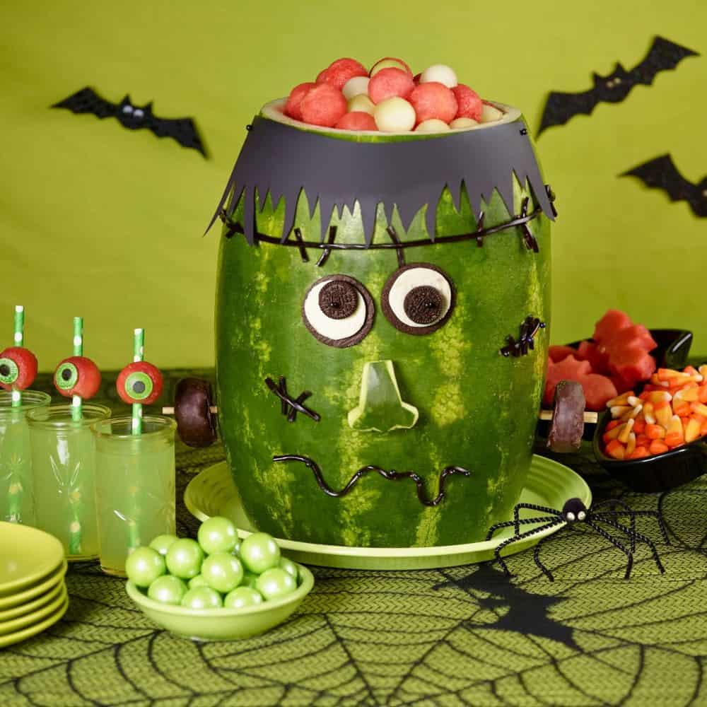Spooky Halloween Watermelon Carvings