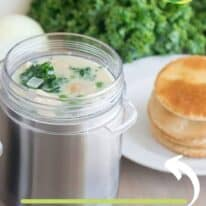 kale and chicken pot pie pin