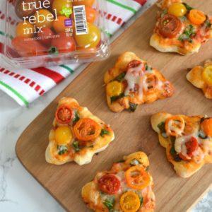 Mini Christmas Tree Pizzas