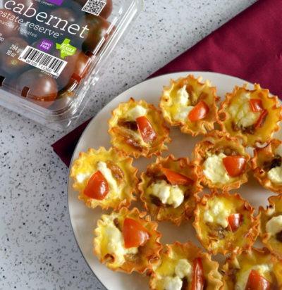 Tomato, Goat Cheese & Caramelized Onion Mini Quiche