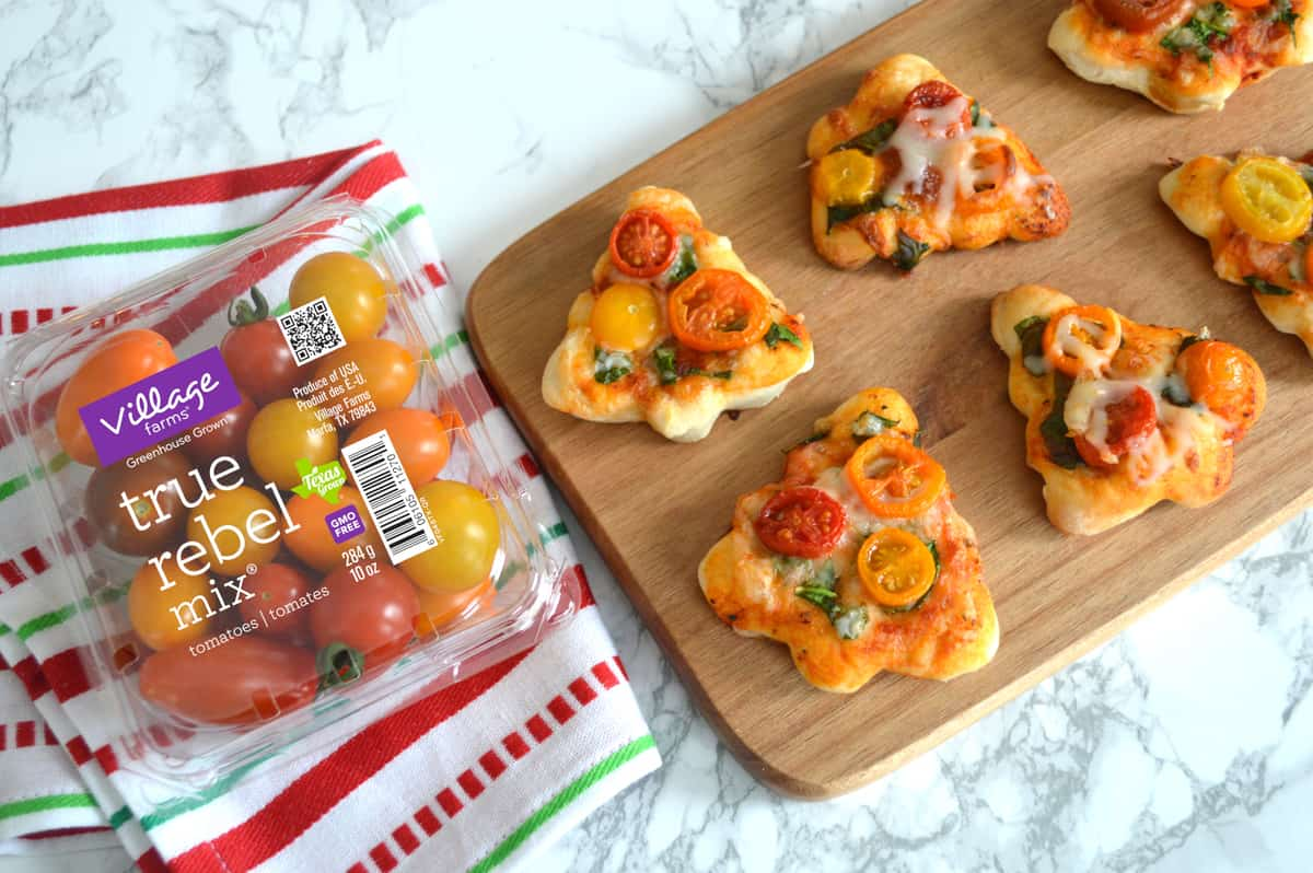 Mini Christmas Tree Pizza Recipe Produce For Kids
