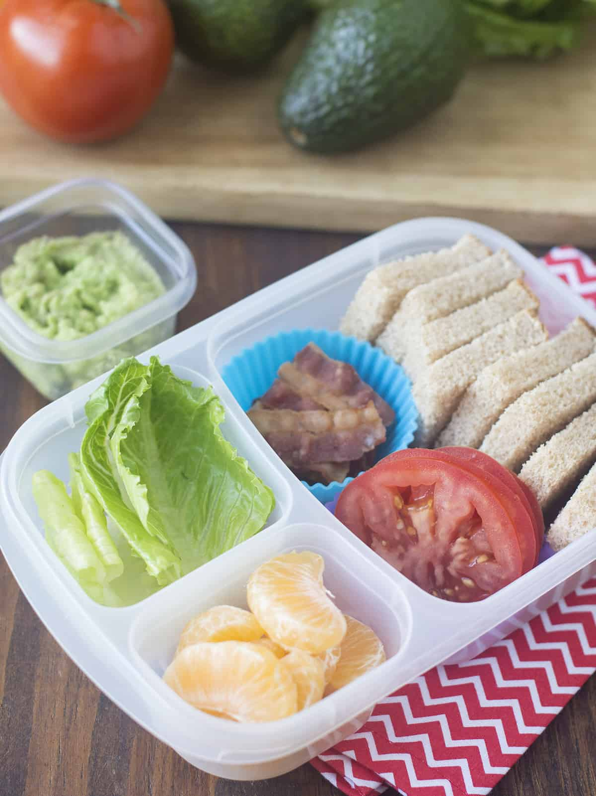 how to make a Deconstructed BLT bento Box