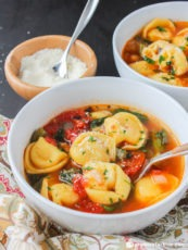 Hearty Vegetable Tortellini Soup