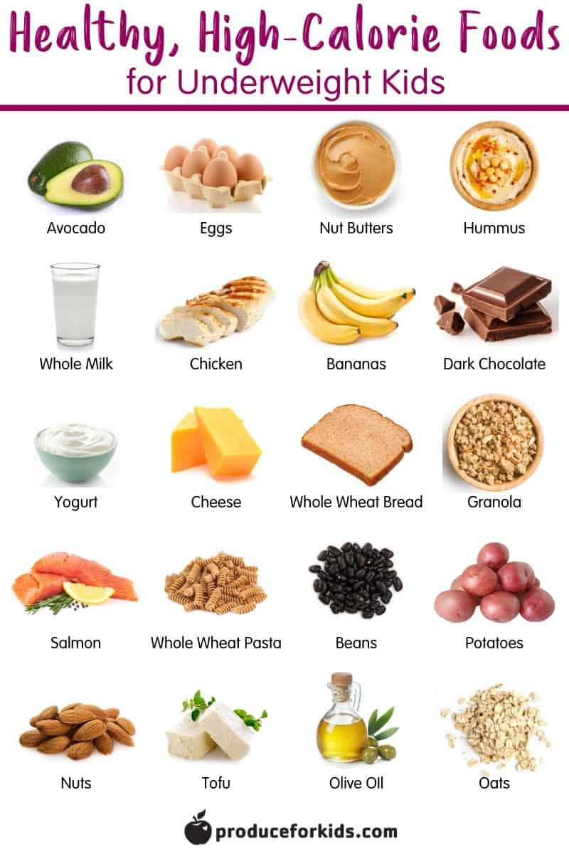 Best High-Calorie Foods for Underweight Kids