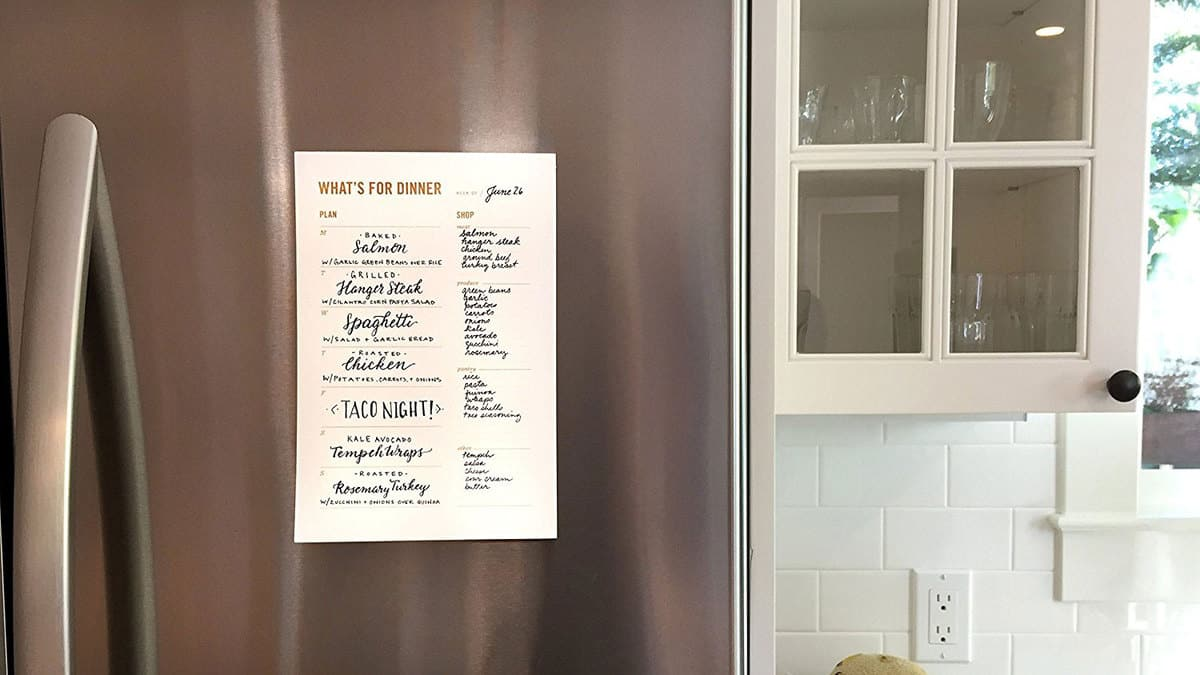 Refrigerator Meal Planner with Shopping List