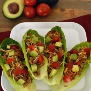 Turkey Taco Lettuce Wraps - Give Taco Tuesday a fresh veggie spin by subbing your tortillas with lettuce! It adds the perfect crunch and comes packed with vitamins and minerals like calcium, potassium and vitamin A, C and K. Simply fill with your favorite taco toppings for a yummy dinner.