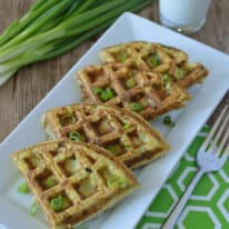 Cheesy Cauliflower Hashbrown Waffles