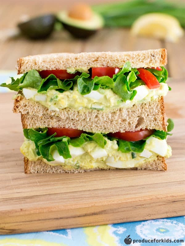 Avocado Egg Salad Sandwich from Produce for Kids