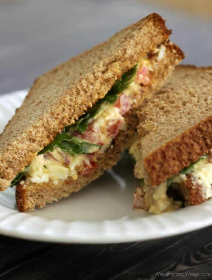 BLT Egg Salad Sandwich from Meal Planning Magic