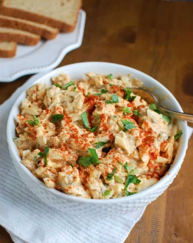 Sweet Southern Style Egg Salad from A Cedar Spoon