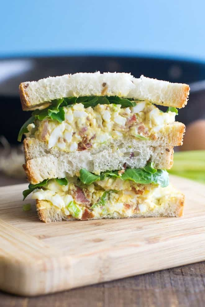 Bacon and Egg Salad Sandwich from Cook the Story