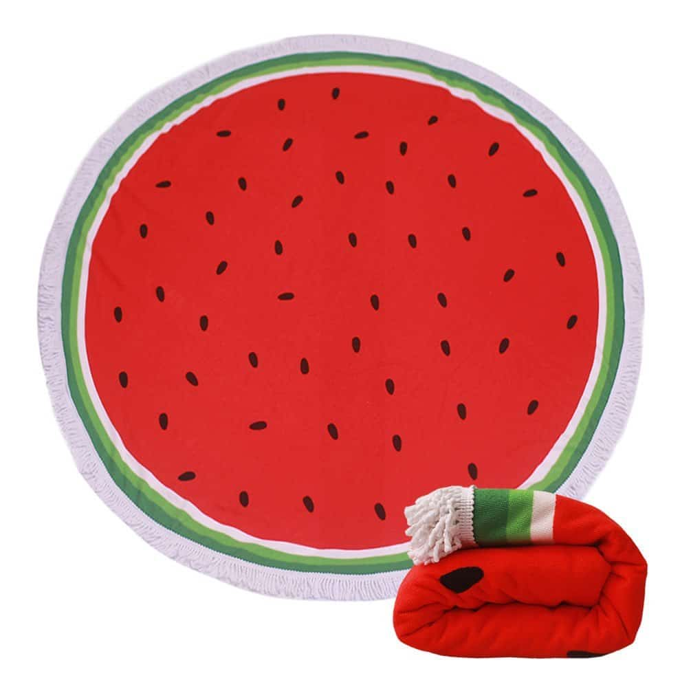 Round Watermelon Blanket