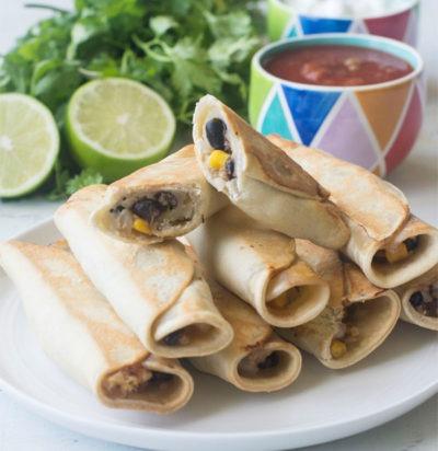 Air Fryer Mexican Cauliflower Rice Taquitos