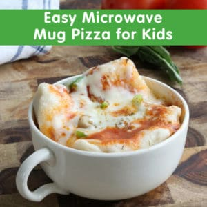 Easy Microwave Mug Pizza for Kids
