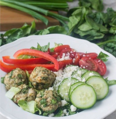 Greek Meatball Buddha Bowl