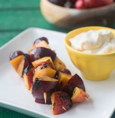 Grilled Stone Fruit Skewers