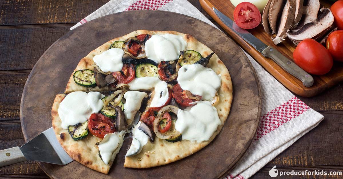 Grilled Summer Vegetable Pizza