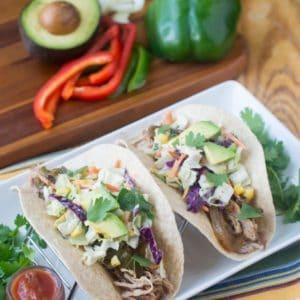 Slow Cooker Shredded Pork Tacos