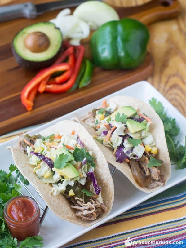 Slow Cooker Shredded Pork Tacos