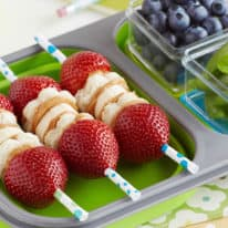 Inside-out PB&J Skewers Bento Box