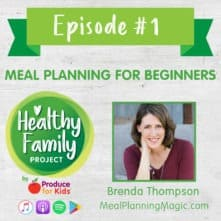 Episode 1 – Meal Planning for Beginners